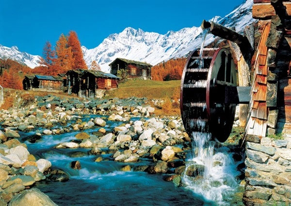 Пазл Долина Лотшен, Швейцария 1000 эл - 1