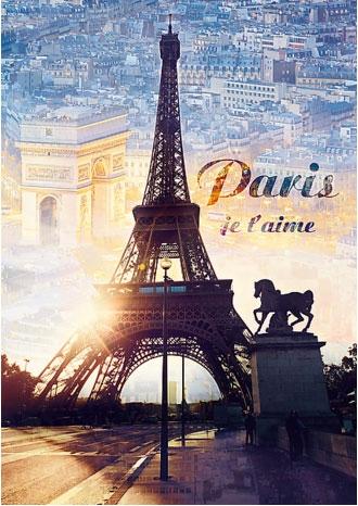 Пазл Париж на рассвете 1000 эл - 1