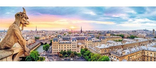 Пазл Вид с собора Парижской Богоматери 1000 эл панорама - 1