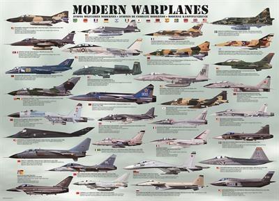 Пазл Современные военные самолеты 1000 эл - 1