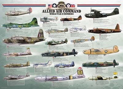 Пазл Бомбардировщики 2-й Мировой войны 1000 эл - 1