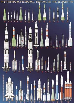 Пазл Космические ракеты 1000 эл - 1