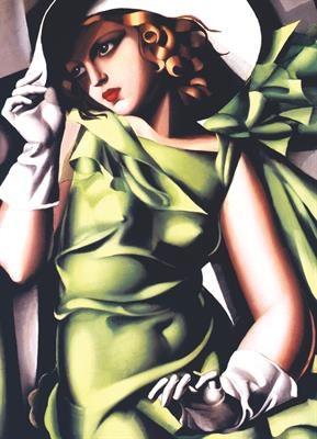 Пазл копия картины Девушка в зеленом Тамар Лемпинская 1000 эл - 1