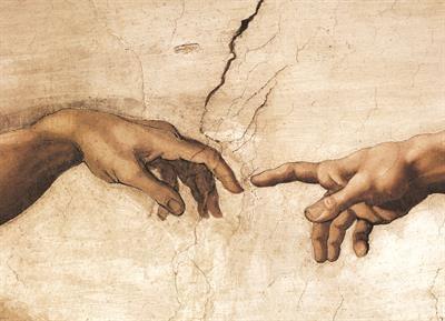 Пазл копия картины фрагмент Сотворение Адама Микеланжело - 1