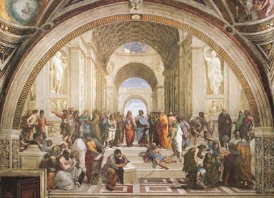 Пазл копия картины Афинская школа Рафаэль 1000 эл - 1