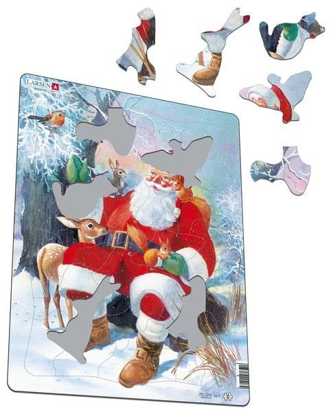 Пазл Дед Мороз в лесу, серия Макси 32 эл - 1