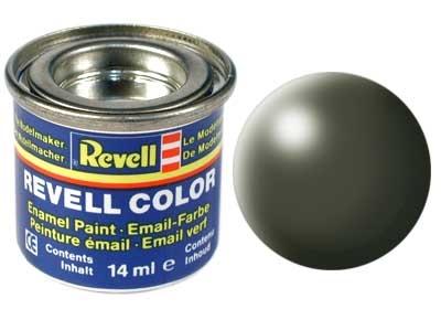 Краска для моделей - цвет Olive green (серия Solid Silk Matt) - 1