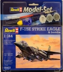 Model Set Истребитель F-15E STRIKE EAGLE & bombs, 1:144, Revell